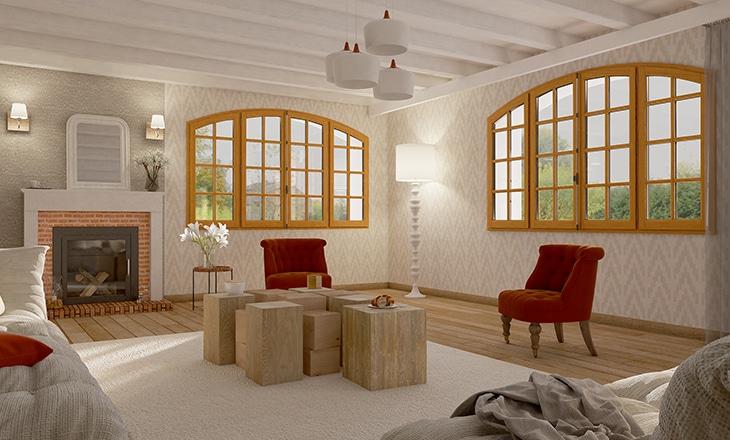 style opéra angle fenêtre bois sy le sybaie