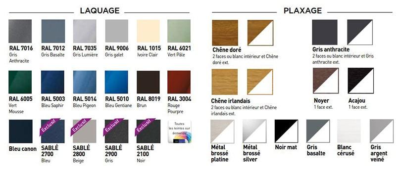 coloris fenêtres pvc syel