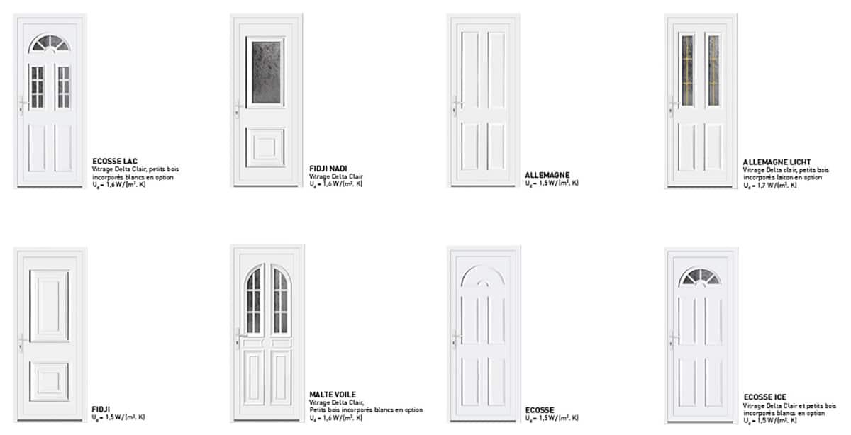 Les portes d 39 entr e pvc sybaie - Reglage porte d entree 5 points ...