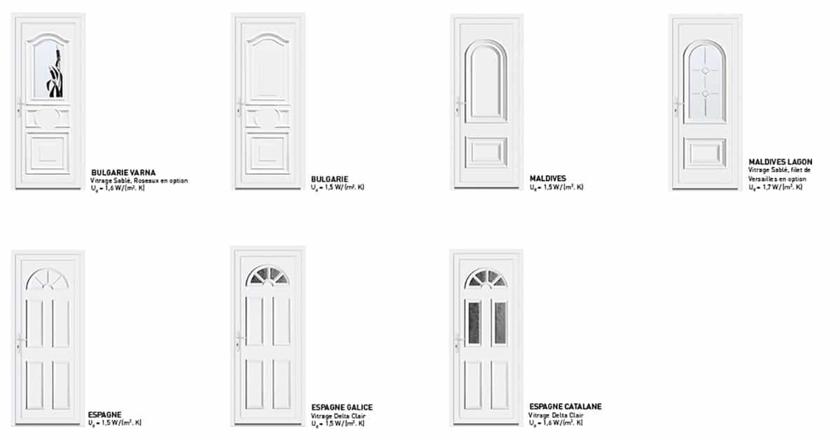 portes d'entree pvc classiques sybaie