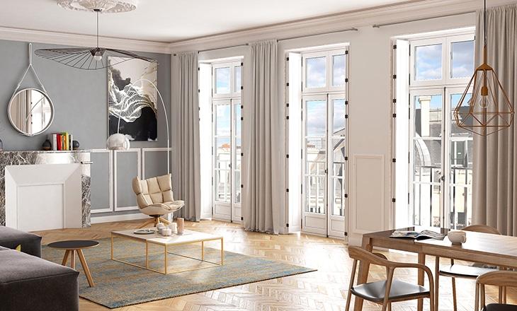style louvre angle fenêtre bois sy le sybaie