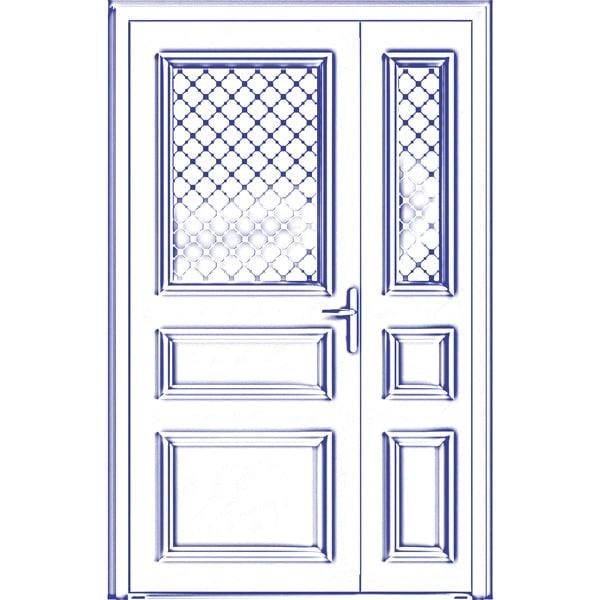 porte sur-mesure semi-fixe vitrée