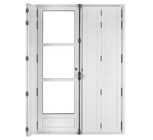volets intérieurs fenêtre bois syle