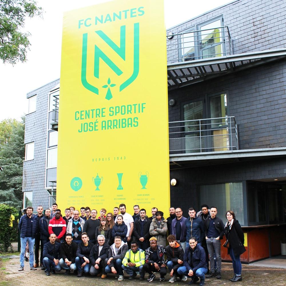 Visite du centre de formation du FC Nantes avec les alternants et leurs tuteurs