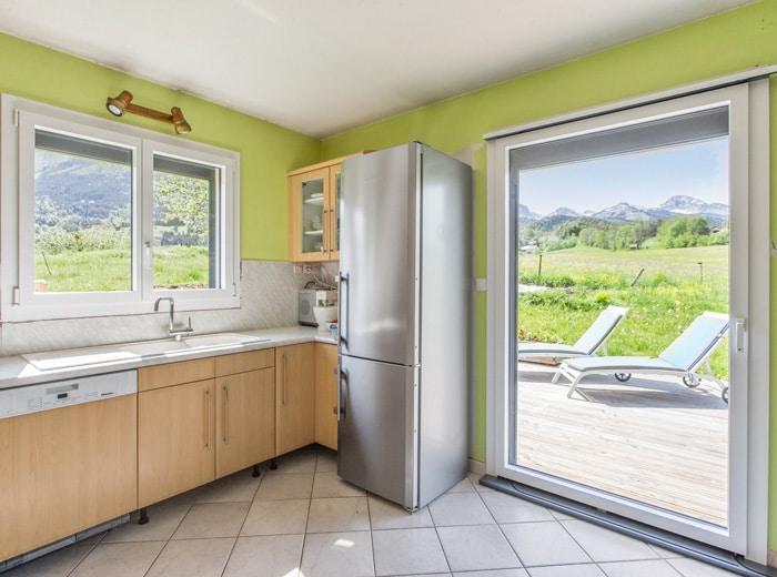 menuiseries M3D PVC dans une cuisine