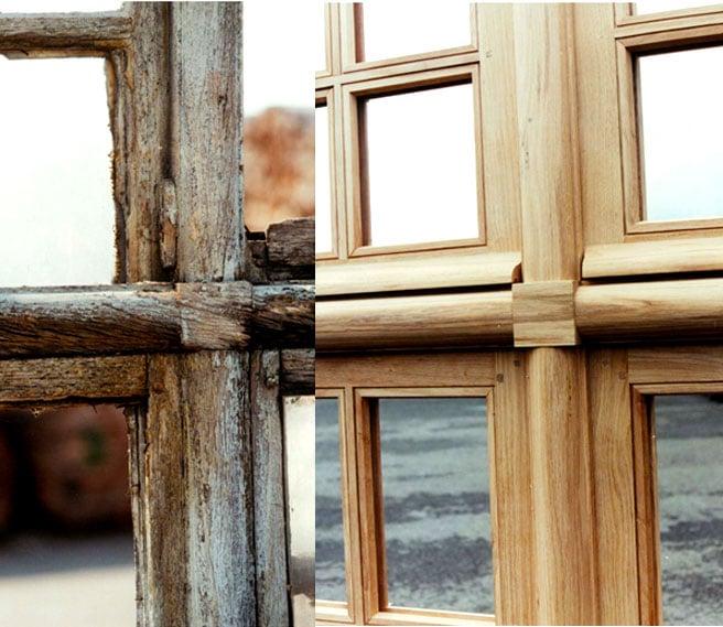 avant après montant bois horizontal ACIBOIS