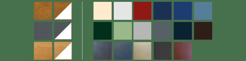 Nuancier de couleurs - gamme PVC